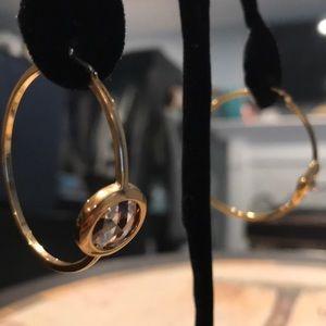 HENRI BENDEL gold hoop earrings